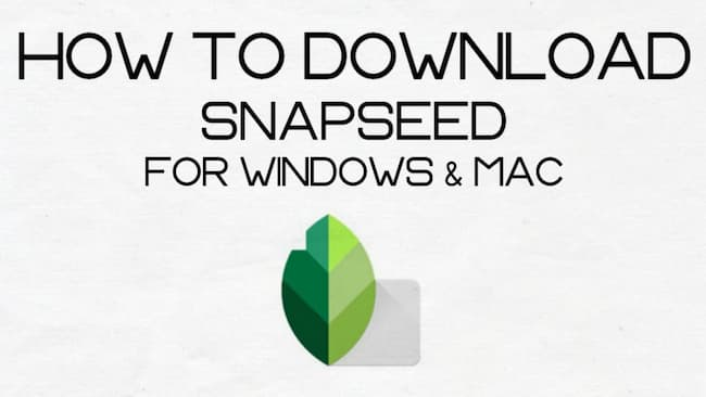 how to download snapseed for pc
