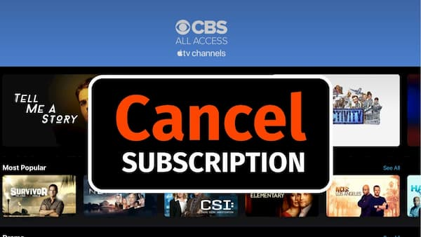 how to cancel CBS All Access membership
