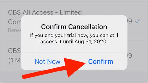 how to cancel cbs all access subscription