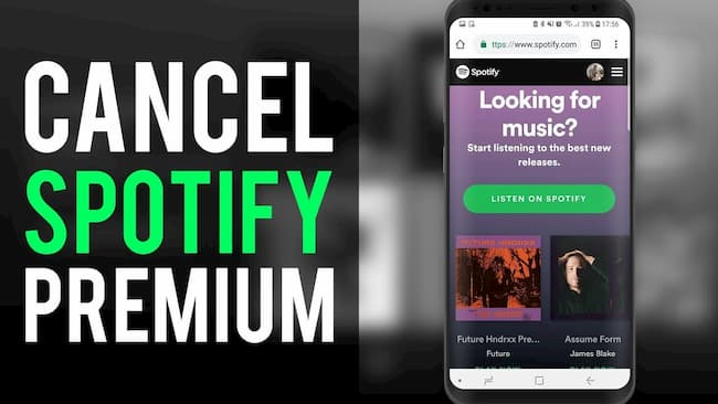Cancel Spotify Premium