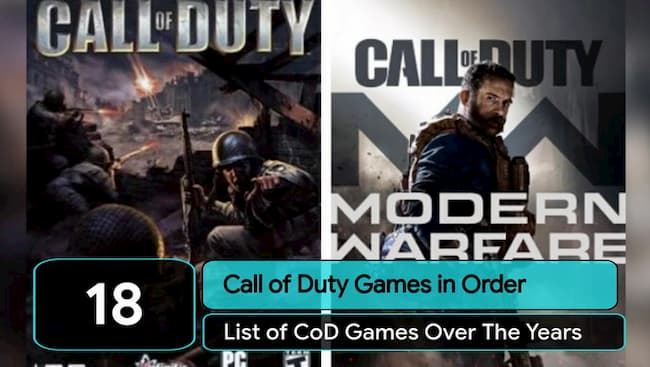 call of duty games in order