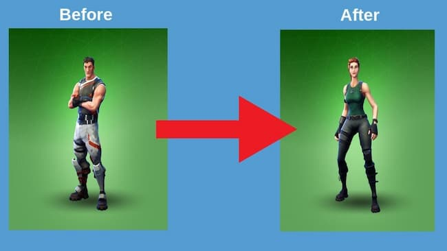 change your gender in fortnite