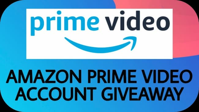 free amazon prime video accounts giveaway