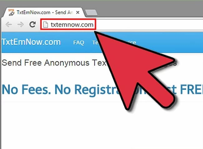send anonymous text message internet