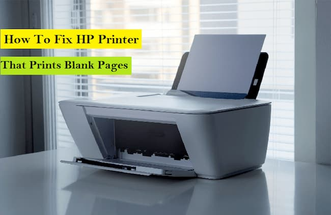 how to fix hp printer that prints blank pages