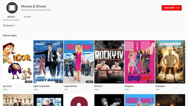 Free Movies Online Streaming Sites