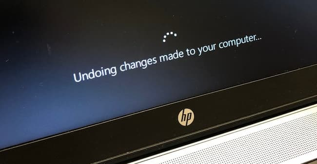 Why Is Windows 10 Showing Undoing Changes Made To Your Computer